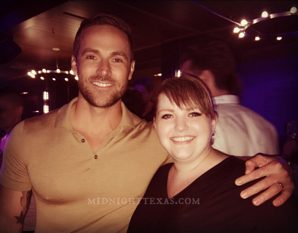 Dylan Bruce and Leah at the Midnight, Texas party